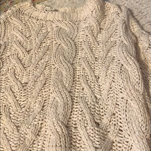She + sky Cream cable knit sweater